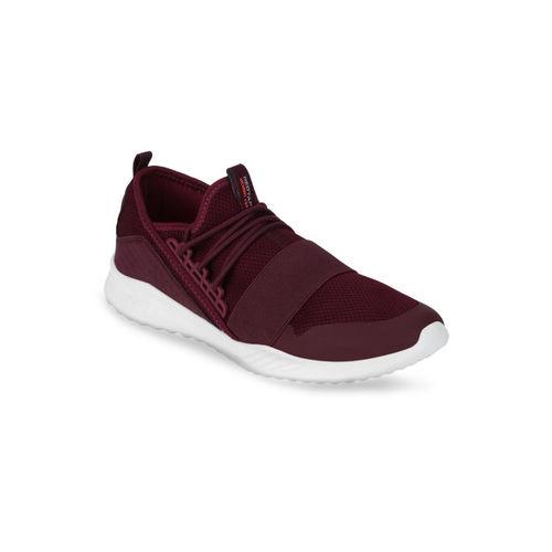 Red Tape Men Burgundy Walking Shoes