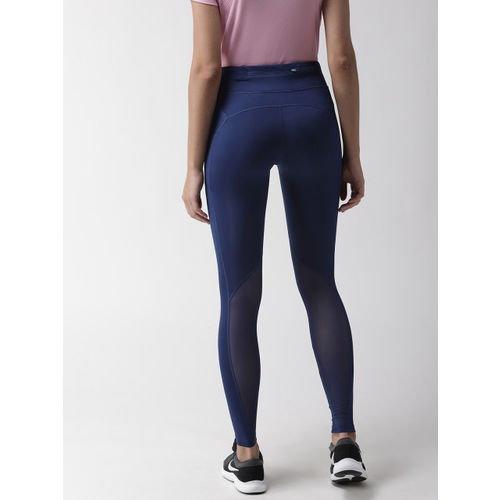Nike Women Navy Blue Solid AS Fast Running Tights
