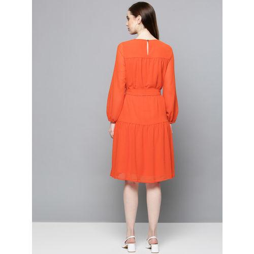 Chemistry Women Orange Solid A-Line Dress
