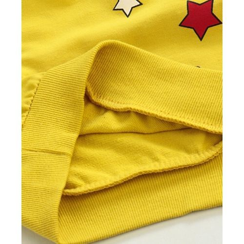 Kookie Kids Full Sleeves Tee Rocket Print - Yellow