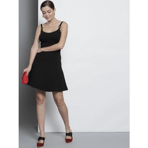 DOROTHY PERKINS Women Black Solid Fit & Flare Dress