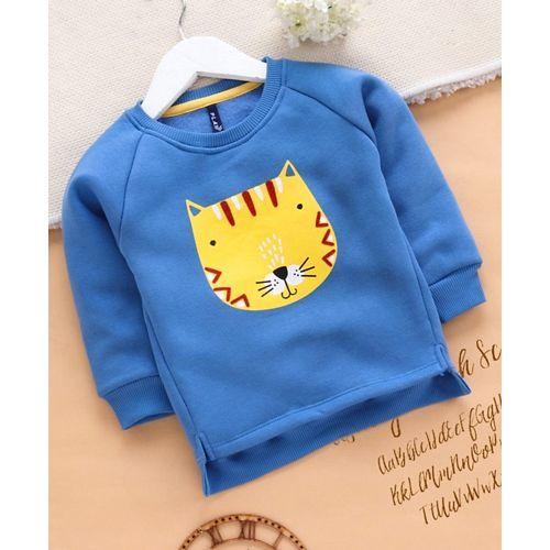 Play by Little Kangaroos Full Sleeves Tee Animal Print - Blue