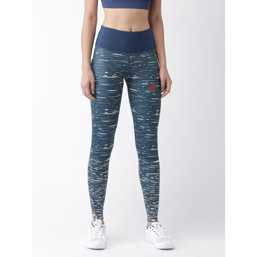 2GO Women Navy Printed Running Tights