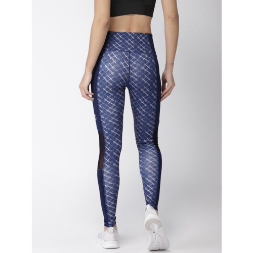 2GO Women Blue Printed GO-DRY Training Tights