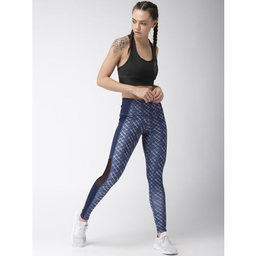 2GO Women Blue Printed GO-DRY Training Tights