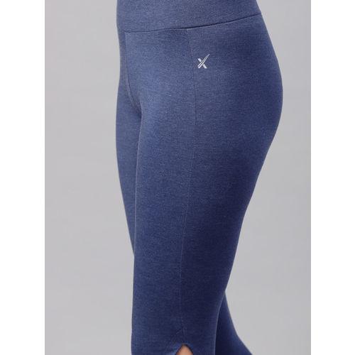 HRX by Hrithik Roshan Women Blue Cut Out Training Tights