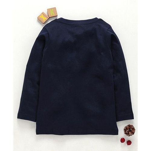 Eteenz Full Sleeves T-Shirt Batman Print - Navy Blue