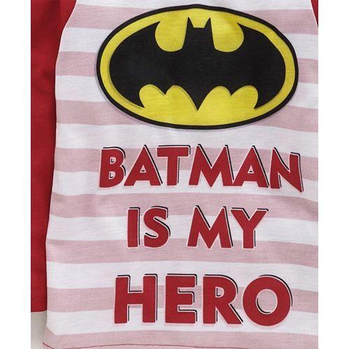 Eteenz Full Sleeves T-Shirt Batman Print - Red