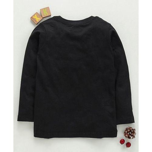 Eteenz Full Sleeves T-Shirt Batman Print - Black