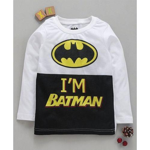 Eteenz Full Sleeves T-Shirt Batman Print - White