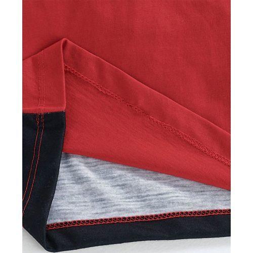 Eteenz Full Sleeves Tee Bicycle Print - Red