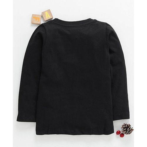 Eteenz Full Sleeves T-Shirt Graphic Print - Black