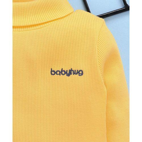 Babyhug Full Sleeves Turtle Neck Tee - Yellow