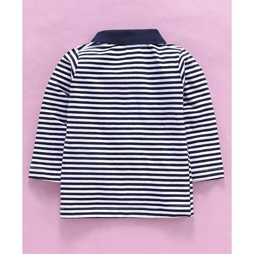 Tango Full Sleeves Stripe Tee - Black White