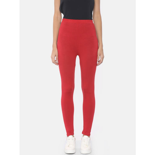 AURELIA Red Solid High Rise Tights
