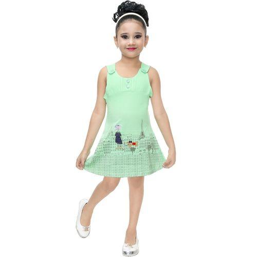 nukids Girls Midi/Knee Length Casual Dress(Multicolor, Sleeveless)