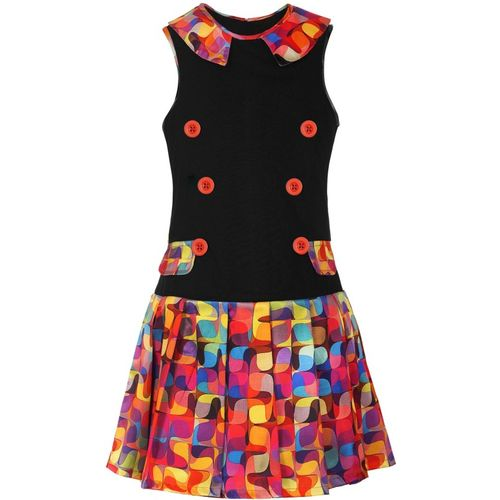 Naughty Ninos Girls Midi/Knee Length Casual Dress(Multicolor, Sleeveless)