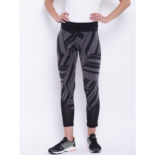 ADIDAS Printed Women Black Tights