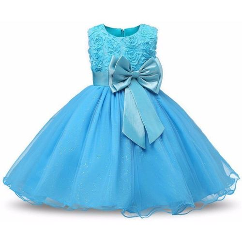 GOODY`S Girls Midi/Knee Length Party Dress(Light Blue, Sleeveless)
