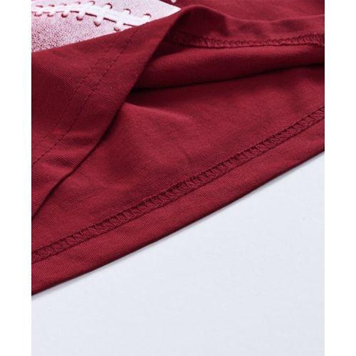 Fido Full Sleeves Tee Game Print - Maroon