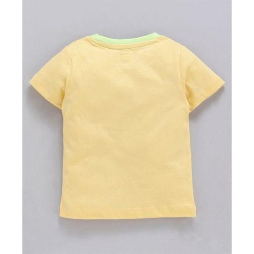 Ohms Half Sleeves Graphic Print T-Shirt - Yellow