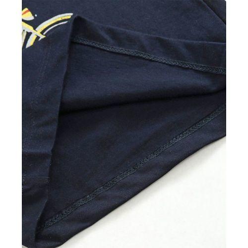Olio Kids Full Sleeves T-Shirt Graphic Print - Navy Blue