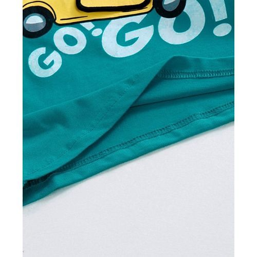 Babyhug Full Sleeves Tee Graphic Print - Teal Blue