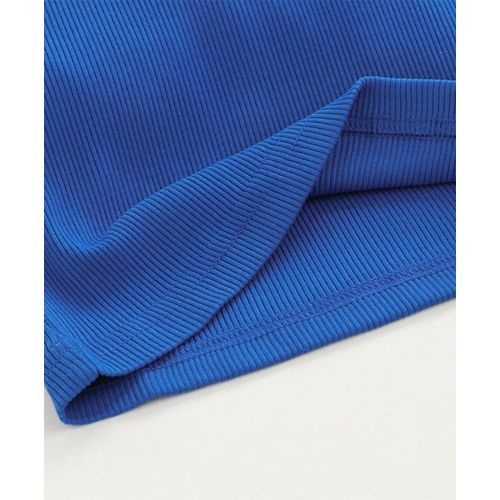 Babyhug Full Sleeves Turtle Neck Tee - Royal Blue