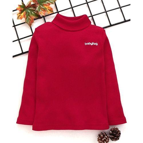 Babyhug Full Sleeves Turtle Neck Tee - Red