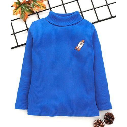 Babyhug Full Sleeves Tee Space Patch - Royal Blue