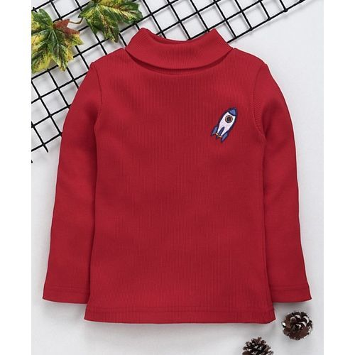 Babyhug Full Sleeves Tee Space Patch - Red