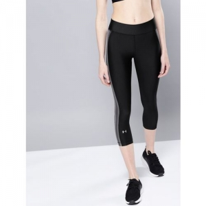 UNDER ARMOUR Solid Women Black Tights
