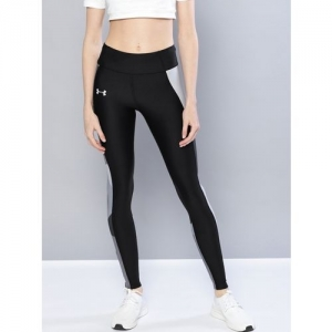 UNDER ARMOUR Printed Women Black Tights
