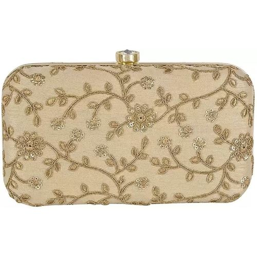 Modest City Sports, Party, Formal, Casual Gold, Beige Clutch