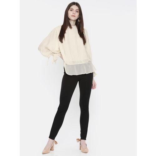 Vero Moda Women Off-White Solid Regular Top