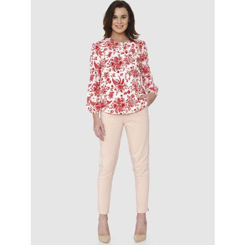 Vero Moda Women Red & White Printed Top