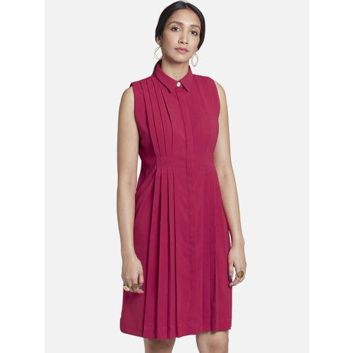 The Label Life Women Pink Shirt Dress