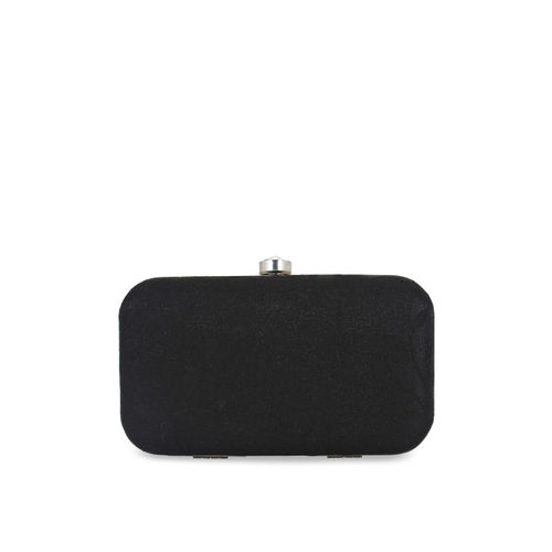 Anekaant Black & Grey Textured Clutch