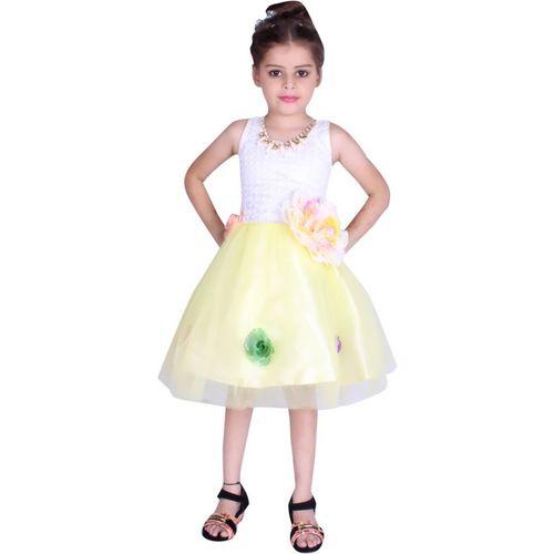 FabTag - DELHIITE Girls Midi/Knee Length Party Dress(Multicolor, Sleeveless)