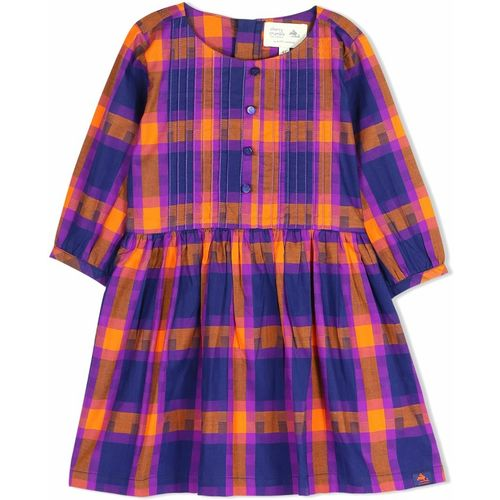 Cherry Crumble California Girls Midi/Knee Length Casual Dress(Purple, Half Sleeve)