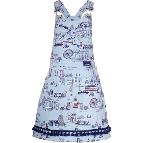 Naughty Ninos Girls Midi/Knee Length Casual Dress(Grey, Sleeveless)