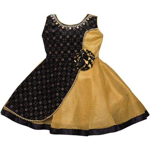 Wishkaro Girls Midi/Knee Length Party Dress(Multicolor, Sleeveless)
