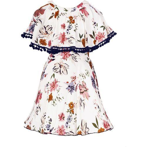 Naughty Ninos Girls Midi/Knee Length Party Dress(White, Sleeveless)