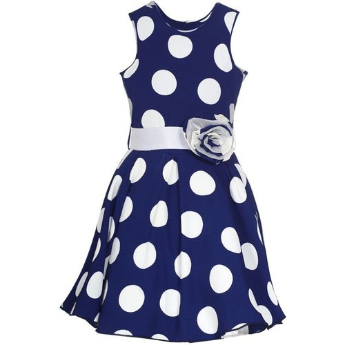 Naughty Ninos Indi Girls Midi/Knee Length Casual Dress(Blue, Sleeveless)