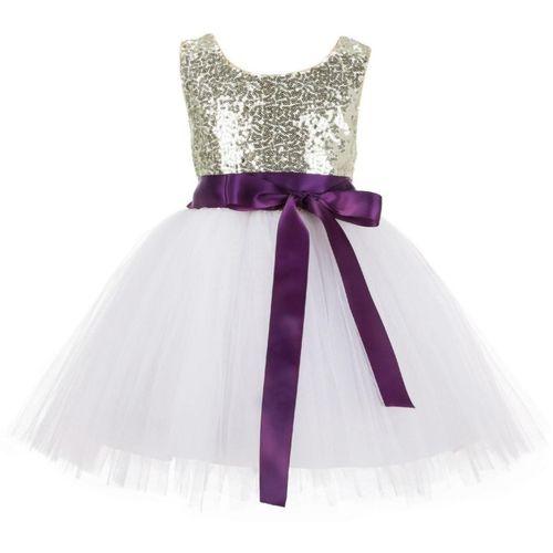 Wish littlle Girls Midi/Knee Length Party Dress(Gold, Sleeveless)