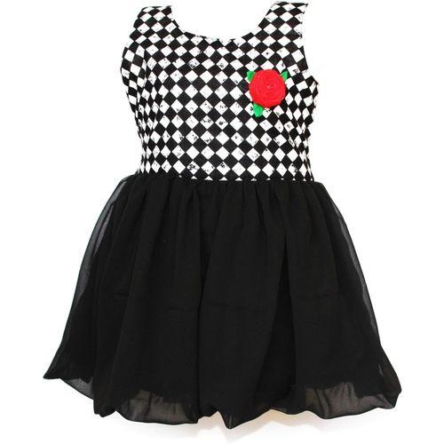 MVD Fashion Girls Maxi/Full Length Party Dress(Black, Sleeveless)