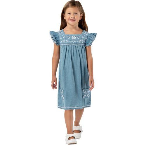Cherry Crumble California Girls Midi/Knee Length Casual Dress(Blue, Cap Sleeve)