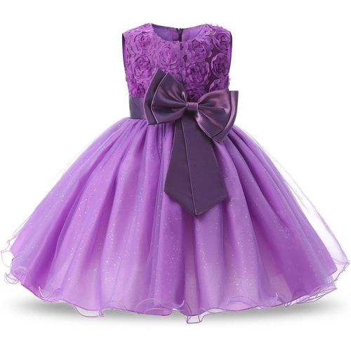 GOODY`S Girls Maxi/Full Length Party Dress(Purple, Sleeveless)