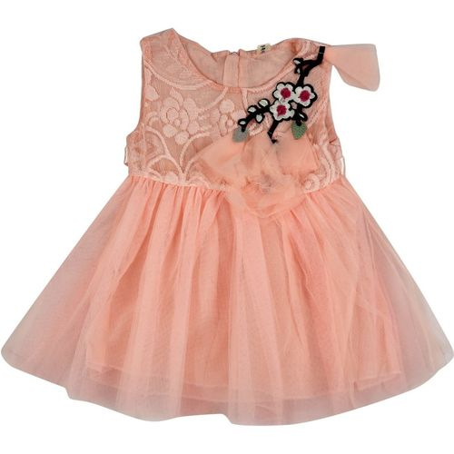 Icable Girls Mini/Short Party Dress(Pink, Sleeveless)