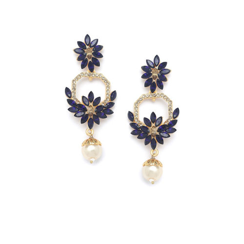 PANASH Gold -Plated Handcrafted Floral Drop Earrings